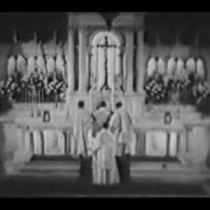 """""""Traditional Latin Mass filmed on Easter Sunday in 1941 at Our Lady of Sorrows church in Chicago. The film presents the ceremonies of the Missa Solemnis or So…"""" Figure it could do without the..."""