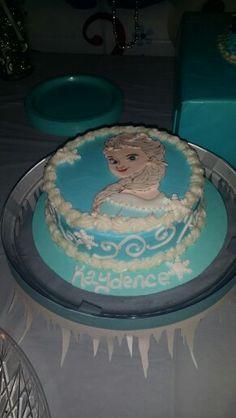 Kaydence's Disney Frozen Birthday Elsa Cake