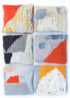 Handmade one of a kind graphic cushions. www.andreasteffen-shop.com/