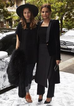 Friends in black.