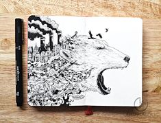 BoredPanda - Kerby Rosanes, the doodle master from the Phillipines, is back with new amazingly detailed drawings.