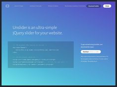 Unslider  Ultra-Simple jQuery Slider Coding Code Web Design Free Resource Slider Responsive Web Development jQuery Javascript Plugin