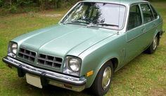 Mint Green Chevrolet Chevette...my first car; received at age 16. Totaled three months later. :(