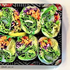 .@health_and_me | rainy day takeaway! salad rice paper rolls  #plantbased #vegetarian #rawfood...