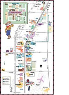 Las Vegas Strip Distance Map