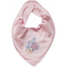 """Bavoir foulard bébé """"Coccinelle"""" rose dragé - NAME IT"""