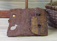 Rusted Metal Railroad Plate for Metal Art, Heavy Metal, Welding, Industrial, Sculpture Metal, Rustic Wall Art, Assemblage, Metal Salvage #2 by DogFaceMetal on Etsy