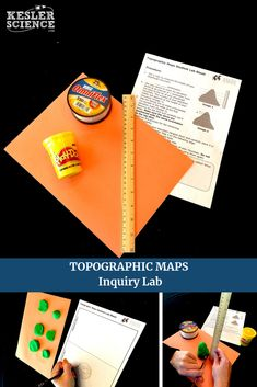 The topographic maps inquiry lab allows students a hands-on activity and  comes with a 214bc0625e0d8