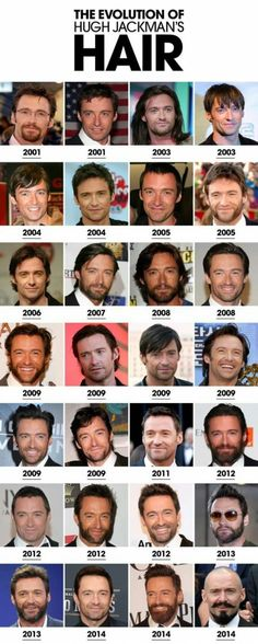 Among other things, a visual history of Hugh Jackman's hair.