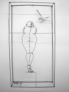 Diane Komater at Mowen Solinsky Gallery wire work portrait art ...