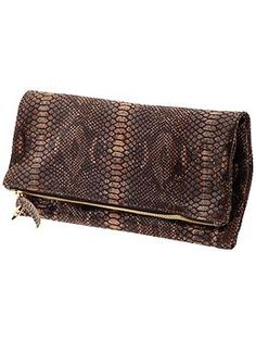 We're super excited to feature Clare Vivier's Foldover Clutch...this one's a gem.
