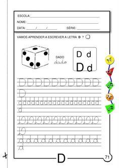 atividades silábicas letra D para escrever