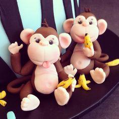 Handmade fondant monkeys - Cakes by Lou