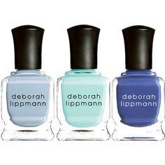 Deborah Lippmann Nail Polish ($29) ❤ liked on Polyvore featuring beauty products, nail care, nail polish, nails, makeup, beauty, cosmetics, no color, flower nail polish and deborah lippmann nail polish