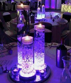 Purple Party Decorations, Quince Decorations, Quinceanera Decorations, Wedding Decorations, Christmas Decorations, Wedding Ideas, Galaxy Wedding, Purple Wedding, Wedding Colors