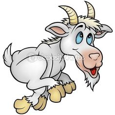 Illustration about Running Goat- cartoon illustration as detailed. Illustration of painting, hooves, comic - 12622017 Animal Drawings, My Drawings, Ed Roth Art, Goat Cartoon, Free Cartoons, Clip Art, Cartoon Images, Illustrations, Painting Patterns