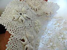 Vintage Dresser Scarf Crochet Crocheted by FabulousFunFashion on Etsy
