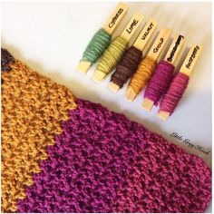 I've started something new today These colours were sitting together in my yarn box and I thought they'd make a lovely autumnal scarf. I may have to make a matching pair of wrist warmers to go with it too