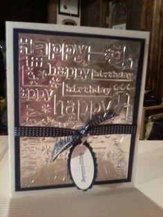 Tin foil birthday card