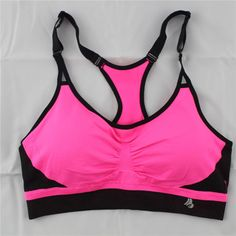 0bf9734281670 Sports Bra for Running Padded Shakeproof Top Adjustable Fitness Bras Candy  Color