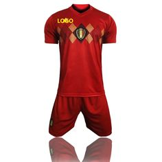 85b67835fad 2018 Russia World Cup Adult Belgium Home Soccer Uniform Men Football Kits  Blue Custom Name Number