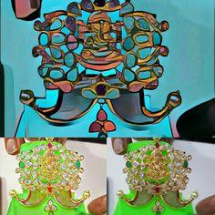 22ct gold#puligoru#tiger nails#lord ganesha#temple jewellery#traditional#gold ornanents#accessories#prisma