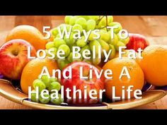 5 Ways to Lose Belly Fat and Live a Healthier Life A combination of exercise and the right diet will help you lose the abdominal fat that's linked to a highe. Abdominal Fat, Living A Healthy Life, Lose Belly Fat, 5 Ways, Watermelon, Diet, Food, Belly Fat Loss, Essen