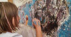 MURALISMO INFANTIL EN LA ESCOLLERA SUR DE PUERTO QUEQUEN    Muralismo Infantil en la Escollera Sur de Puerto Quequén En el marco de la segunda Restauración del Mural Reflejos de la Escollera Sur de Puerto Quequén este sábado 19 de noviembre a las 15:30 se