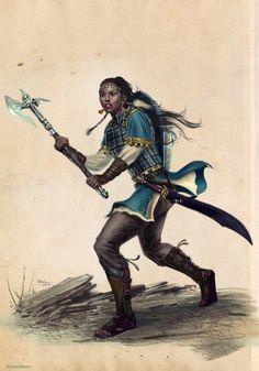 RPG Female Character Portraits — Brigitte,Human Warrior Ilich Henriquez by Ilacha Black Characters, Dnd Characters, Fantasy Characters, Female Characters, Fantasy Wesen, Fantasy Rpg, Medieval Fantasy, Inspiration Drawing, Fantasy Inspiration