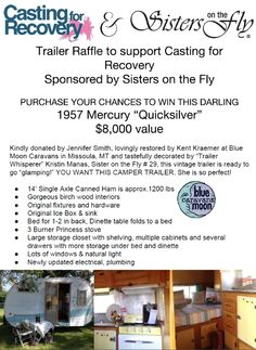 Images about vintage trailer raffle to support casting for recovery