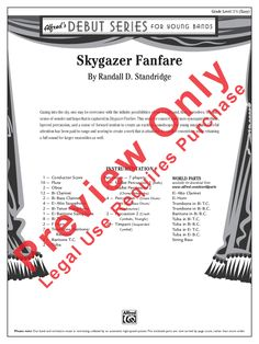 Skygazer Fanfare by Randall D. Standridge| J.W. Pepper Sheet Music