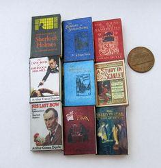 SHERLOCK HOLMES Set 1:6 Scale 9 Prop Books Miniature Book  #LittleTHINGSofInterest