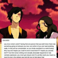 This is how I see Zutara, more than a bromance but not romance
