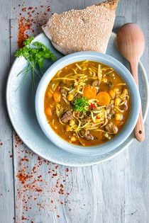 Marocká polévka Harira Korn, Soup Recipes, Food And Drink, Soups, Eat, Cooking, Ethnic Recipes, Asia, Kitchen