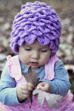 crochet hat............. crocodile stich