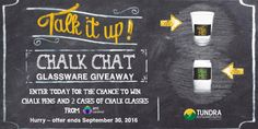 #CONTEST ALERT! Time to go to the front of the house! We're giving away 2 cases of these new Chalk Chat glasses from Cardinal International! Great for beer gardens, tap rooms & even weddings! These glasses make great conversation pieces (literally). Enter once a day, every day to win! Hurry, offer ends 9/30!! http://blog.etundra.com/contests/enter-win-chalk-chat-glassware-giveaway/ #wedding #weddingfavors #be…