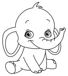 easy printable coloring pages elephant learning printable