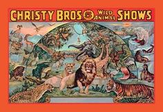 Christy Bros 5 Ring Wild Animal Shows http://www.walls360.com/circus-wall-graphics-s/1943.htm
