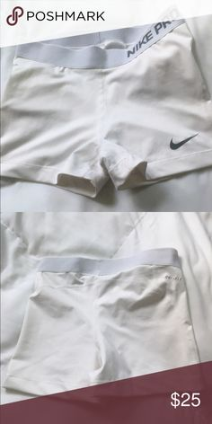 Nike compression shorts Nike Compression Shorts white size medium Nike Shorts