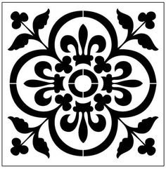 floor Stencil Patterns - Reusable LaserCut Floor Step or Wall Tile Stencil. Stencil Patterns, Stencil Art, Stencil Designs, Tile Patterns, Tile Stencils, Stenciling, Painting Stencils, Home Bild, Stenciled Floor