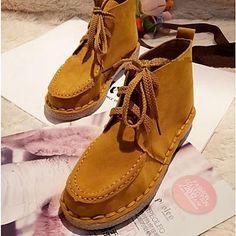 kadın ayakkabı yuvarlak ayak düşük topuk ayak bileği çizmeler daha fazla renk kullanılabilir – USD $ 29.99