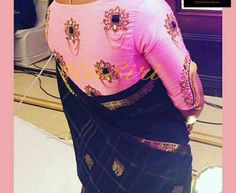 Machine Embroidery Designs, Embroidery Stitches, Hand Embroidery, Bridal Blouse Designs, Blouse Neck Designs, Wedding Blouses, Simple Embroidery, Work Blouse, Embroidered Blouse