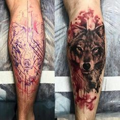 wolf tattoo with trash polka touches © tattoo artist Chehomova Dasha 💕📌💕📌💕 Wolf Tattoo Forearm, Tribal Wolf Tattoo, Wolf Tattoo Sleeve, Wolf Tattoo Design, Lion Tattoo, Sleeve Tattoos, Tattoo Wolf, Design Tattoos, Wolf Tattoos Men