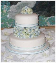 Wedding, Flowers, Cake, Blue, Sweet traders, Hydrangea