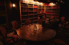 9 Magical Library Bars In London For The Perfect Cosy Night Out Bar Interior Design, Interior Design Inspiration, Magical Library, 1920s Speakeasy, Library Bar, Liverpool Street, Small Bars, Cosy, Dining Table