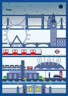 London poster by Lee Ann Donaldson