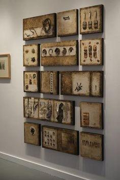 Detritus Series Gallery Shot ~ artist Nancy Crawford ~ mixed media