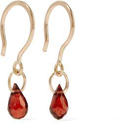 Melissa Joy Manning 14-Karat Gold Garnet Earrings