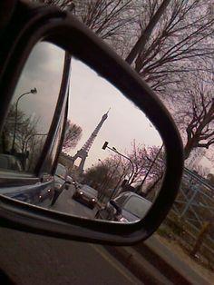 Eiffel Tower in Rear-view mirror- You should never say good-by to Paris, only au revoir. Rear Mirror, Mirror 3, Mirror Image, Tuileries Paris, Paris Flat, Louvre Paris, Paris Images, Mont Saint Michel, I Love Paris