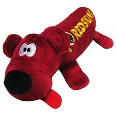 abc67c5b5 Plush Tube Pet Toy has embroidered facial features and a 3-D tongue with a  round squeaker in the head. Embroidered primary team logo and team name on  both ...